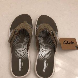 Clark's flip flops